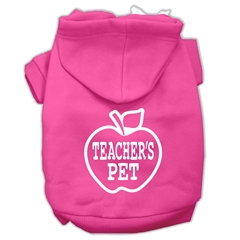 Mirage Pet Products Teachers Pet Screen Print Pet Hoodies Bright Pink Size XXL (18)