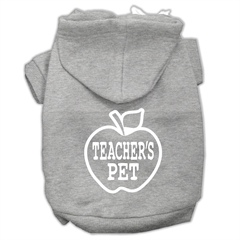 Mirage Pet Products Teachers Pet Screen Print Pet Hoodies Grey Size M (12)