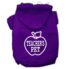 Mirage Pet Products Teachers Pet Screen Print Pet Hoodies Purple Size XL (16)