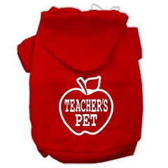Mirage Pet Products Teachers Pet Screen Print Pet Hoodies Red Size XXL (18)