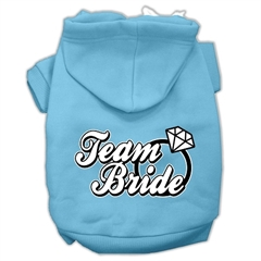 Mirage Pet Products Team Bride Screen Print Pet Hoodies Baby Blue Size XL (16)
