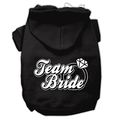 Mirage Pet Products Team Bride Screen Print Pet Hoodies Black Size Lg (14)