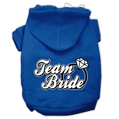 Mirage Pet Products Team Bride Screen Print Pet Hoodies Blue Size XL (16)