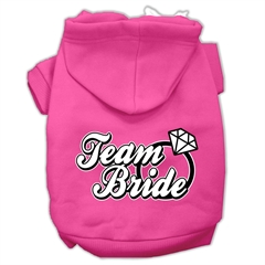 Mirage Pet Products Team Bride Screen Print Pet Hoodies Bright Pink Size XXXL (20)