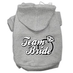 Mirage Pet Products Team Bride Screen Print Pet Hoodies Grey Size Med (12)