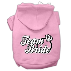 Mirage Pet Products Team Bride Screen Print Pet Hoodies Light Pink Size Med (12)
