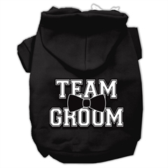 Mirage Pet Products Team Groom Screen Print Pet Hoodies Black Size Med (12)