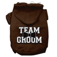 Mirage Pet Products Team Groom Screen Print Pet Hoodies Brown Size Sm (10)