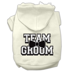 Mirage Pet Products Team Groom Screen Print Pet Hoodies Cream Size XXL (18)