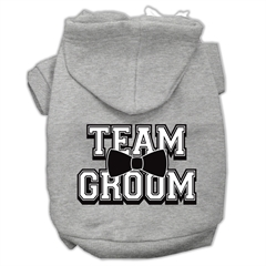 Mirage Pet Products Team Groom Screen Print Pet Hoodies Grey Size XS (8)