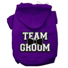 Mirage Pet Products Team Groom Screen Print Pet Hoodies Purple Size XS (8)