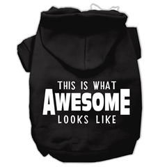 Mirage Pet Products This is What Awesome Looks Like Dog Pet Hoodies Black Size XS (8)