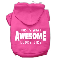 Mirage Pet Products This is What Awesome Looks Like Dog Pet Hoodies Bright Pink Size Sm (10)