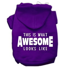 Mirage Pet Products This is What Awesome Looks Like Dog Pet Hoodies Purple Size XS (8)