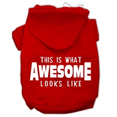 Mirage Pet Products This is What Awesome Looks Like Dog Pet Hoodies Red Size Med (12)