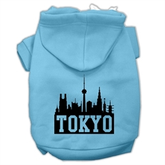 Mirage Pet Products Tokyo Skyline Screen Print Pet Hoodies Baby Blue Size Lg (14)