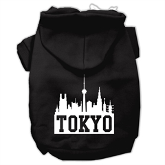 Mirage Pet Products Tokyo Skyline Screen Print Pet Hoodies Black Size XXXL (20)