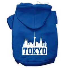 Mirage Pet Products Tokyo Skyline Screen Print Pet Hoodies Blue Size Sm (10)