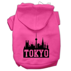 Mirage Pet Products Tokyo Skyline Screen Print Pet Hoodies Bright Pink Size Sm (10)