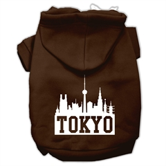 Mirage Pet Products Tokyo Skyline Screen Print Pet Hoodies Brown Size XL (16)