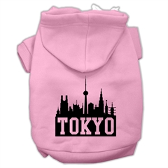 Mirage Pet Products Tokyo Skyline Screen Print Pet Hoodies Light Pink Size Lg (14)