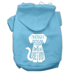 Mirage Pet Products Trapped Screen Print Pet Hoodies Baby Blue Size Sm (10)