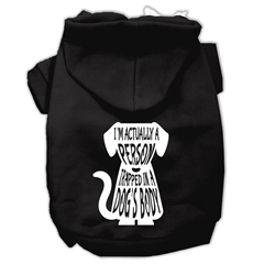 Mirage Pet Products Trapped Screen Print Pet Hoodies Black Size Med (12)