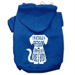 Mirage Pet Products Trapped Screen Print Pet Hoodies Blue Size XXXL (20)