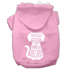Mirage Pet Products Trapped Screen Print Pet Hoodies Light Pink Size Med (12)