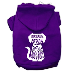 Mirage Pet Products Trapped Screen Print Pet Hoodies Purple Size XS (8)