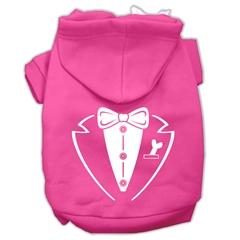 Mirage Pet Products Tuxedo Screen Print Pet Hoodies Bright Pink Size XS (8)