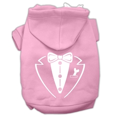 Mirage Pet Products Tuxedo Screen Print Pet Hoodies Light Pink Size XL (16)