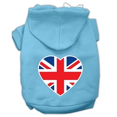 Mirage Pet Products British Flag Heart Screen Print Pet Hoodies Baby Blue Size XS (8)