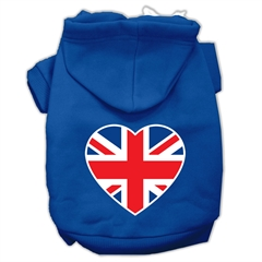 Mirage Pet Products British Flag Heart Screen Print Pet Hoodies Blue Size XXL (18)