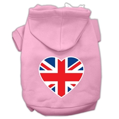 Mirage Pet Products British Flag Heart Screen Print Pet Hoodies Light Pink Size XS (8)