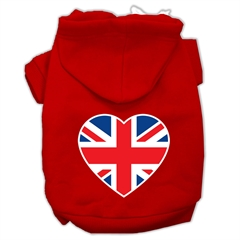 Mirage Pet Products British Flag Heart Screen Print Pet Hoodies Red Size XS (8)