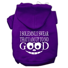 Mirage Pet Products Up to No Good Screen Print Pet Hoodies Purple Size Lg (14)