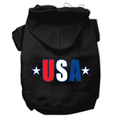 Mirage Pet Products USA Star Screen Print Pet Hoodies Black Size Sm (10)