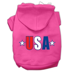 Mirage Pet Products USA Star Screen Print Pet Hoodies Bright Pink Size Lg (14)