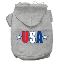 Mirage Pet Products USA Star Screen Print Pet Hoodies Grey Size Med (12)