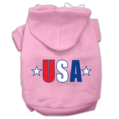 Mirage Pet Products USA Star Screen Print Pet Hoodies Light Pink Size Lg (14)