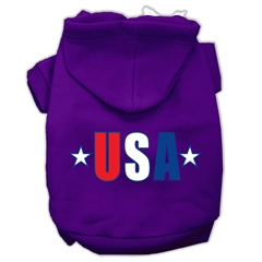 Mirage Pet Products USA Star Screen Print Pet Hoodies Purple Size Med (12)