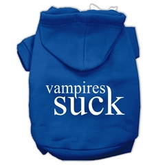 Mirage Pet Products Vampires Suck Screen Print Pet Hoodies Blue Size XXXL(20)