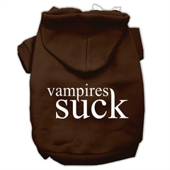 Mirage Pet Products Vampires Suck Screen Print Pet Hoodies Brown Size XL (16)