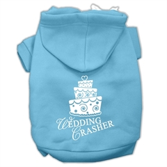 Mirage Pet Products Wedding Crasher Screen Print Pet Hoodies Baby Blue Size XS (8)