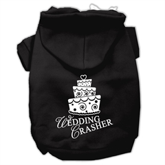 Mirage Pet Products Wedding Crasher Screen Print Pet Hoodies Black Size Sm (10)