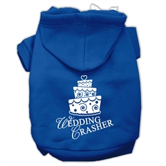 Mirage Pet Products Wedding Crasher Screen Print Pet Hoodies Blue Size Lg (14)