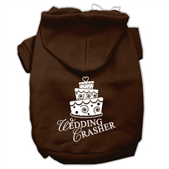 Mirage Pet Products Wedding Crasher Screen Print Pet Hoodies Brown Size XS (8)