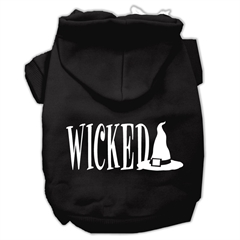 Mirage Pet Products Wicked Screen Print Pet Hoodies Black Size XS (8)