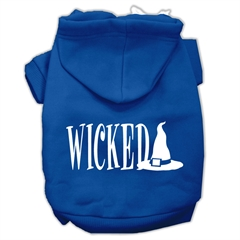 Mirage Pet Products Wicked Screen Print Pet Hoodies Blue Size XL (16)